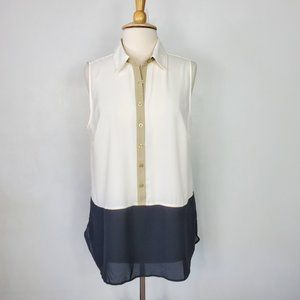 Christopher & Banks Color Block Top, NWT, L